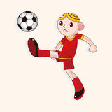 Sport soccer player theme elements vector,eps Stock Photos