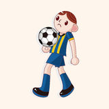 Sport soccer player theme elements vector,eps. Vector illustration file Royalty Free Stock Image