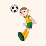 Sport soccer player theme elements vector,eps. Vector illustration file Royalty Free Stock Photo