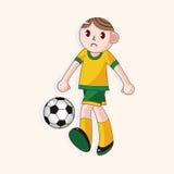 Sport soccer player theme elements vector,eps. Vector illustration file,vector illustration file,vector illustration file Stock Photo