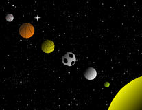 Sport solar system Royalty Free Stock Photography