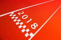 Sport som skriver in bakgrund 2018 för nytt år arkivfoton