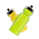 Sport som två dricker flaskor Royaltyfri Fotografi