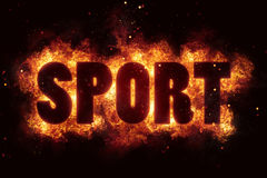 Sport sports text flame flames burn burning hot explosion. Explode Stock Image