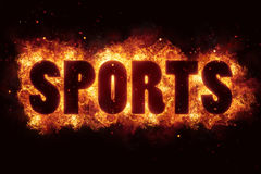 Sport sports text flame flames burn burning hot explosion Stock Photos