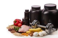 Sport sprawności fizycznej i odżywiania wyposażenie zdjęcie stock