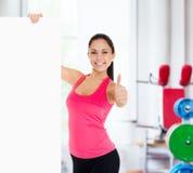 Sport sprawności fizycznej kobiety pustego miejsca deski kopii przestrzeń Fotografia Royalty Free