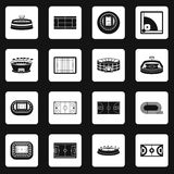 Sport stadium icons set squares vector Royalty Free Stock Photo