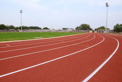 SPORT STADIUM WITH RUNNING TRACKS STRIP Stock Image