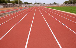 SPORT STADIUM WITH RUNNING TRACKS STRIP Royalty Free Stock Images