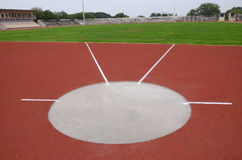 SPORT STADIUM WITH SHOT PUT STRIP Stock Image