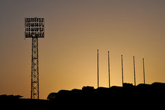 Sport stadium sunset Royalty Free Stock Images