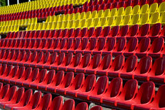 Sport stadium tribunes at the daylight Stock Photo