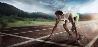 Free Sport. Starting Runner. Stock Photo - 92340500