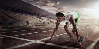 Sport. Starting runner. royalty free stock image
