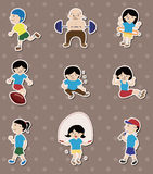 Sport stickers Royalty Free Stock Image