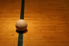 Sport still-life. A ball in an indoor sport facility stock image
