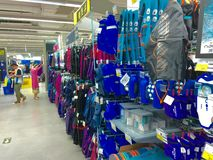 Sport store. Decathlon sport store shopping in Beijing, China Stock Image