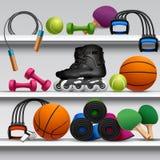 Sport Store Shelf Stock Photo