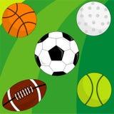 Sport style. Foodball icon, basketball icon, golf icon, soccer icon, tennis icon Stock Photos