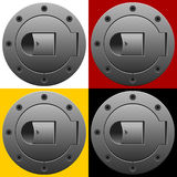 Sport-style fuel tank lid Royalty Free Stock Photo