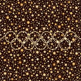 Sport style golden falling stars shining background Royalty Free Stock Photo