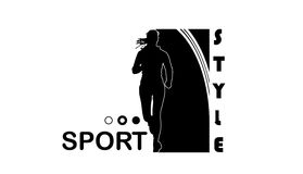 Sport style. Sport life and style and running girl, eps10, vector Stock Photography