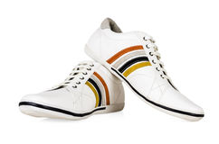 Sport style men's shoes isolated Stock Photo