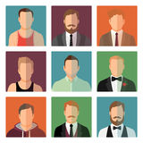 Sport style and suit male avatars Royalty Free Stock Photos