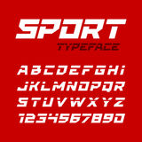 Sport style typeface Stock Photo