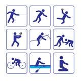 Sport stylize Ikonen einstellte zwei im Vektor Lizenzfreies Stockbild