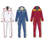 Sport suit vector. Sport suit vector isolated set vector illustration