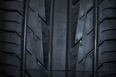 Sport summer tire  on black background Stock Image