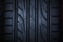 Sport summer tire  on black background Royalty Free Stock Photography