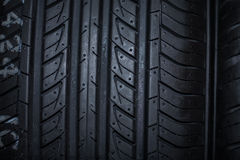 Sport summer tire isolated on black background Stock Photos