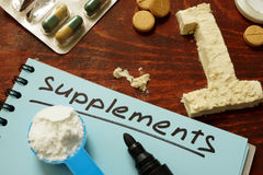 Sport Supplements for bodybuilding. royalty free stock photography