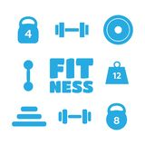 Sport supplements effects icons for fitness diet . Supplem Royalty Free Stock Photo