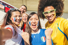 Sport Supporters At Stadium Stock Photography