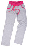 Sport Sweatpants lokalisiert auf einem Weiß Lizenzfreies Stockfoto