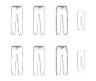 Sport sweatpants set. Vector illustration Stock Photo