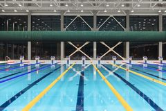 Sport swimming pool inside building. As background Royalty Free Stock Photos