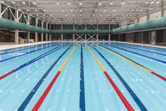 Sport swimming pool inside building. As background Stock Image