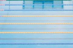 Sport swimming pool. Part of corridors of public swimming pool. Sport swim pool for competition Stock Image