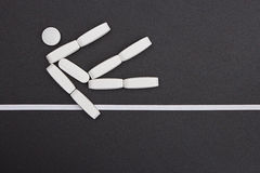 Sport Symbol. Made of pills Royalty Free Stock Photo