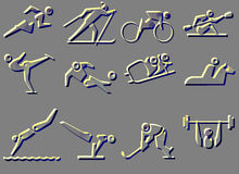 SPORT SYMBOL ICONS Stock Photos