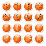 Sport symbol stickers Royalty Free Stock Images