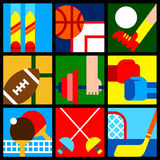 Sport symbols 1 Stock Photos
