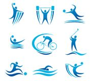 Sport symbols and pictograms Royalty Free Stock Image