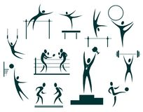 Sport symbols set Royalty Free Stock Photo