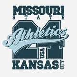 Sport T-shirt design. Kansas City. Athletics Typography Graphics. Vector Stock Photography